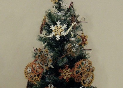 staempunk christmas tree (5)
